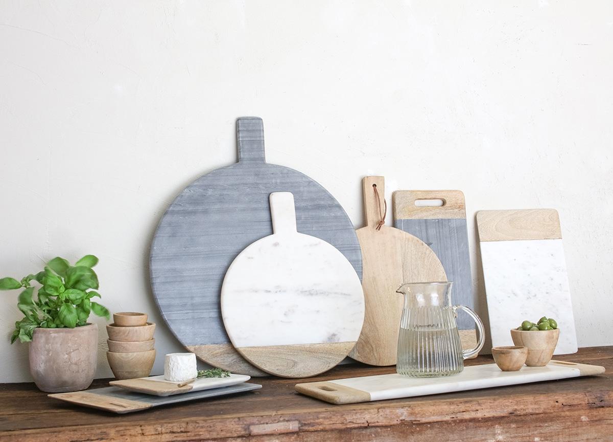 Bwari Marble Platter Grey Emily May Interiors