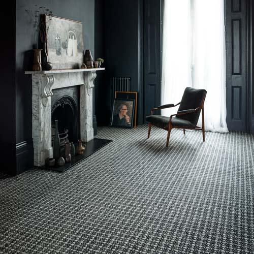 sisal and wool blend carpet in rich black